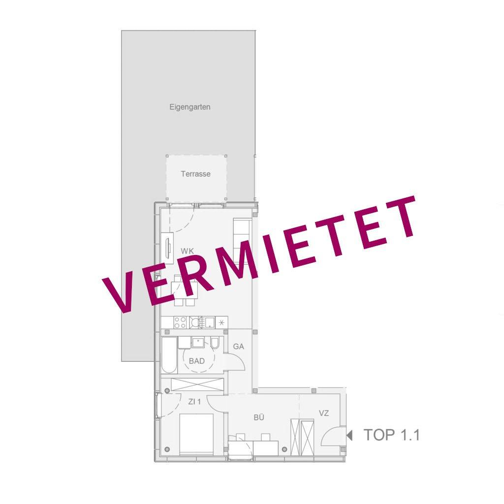 Wohnung vermietet
