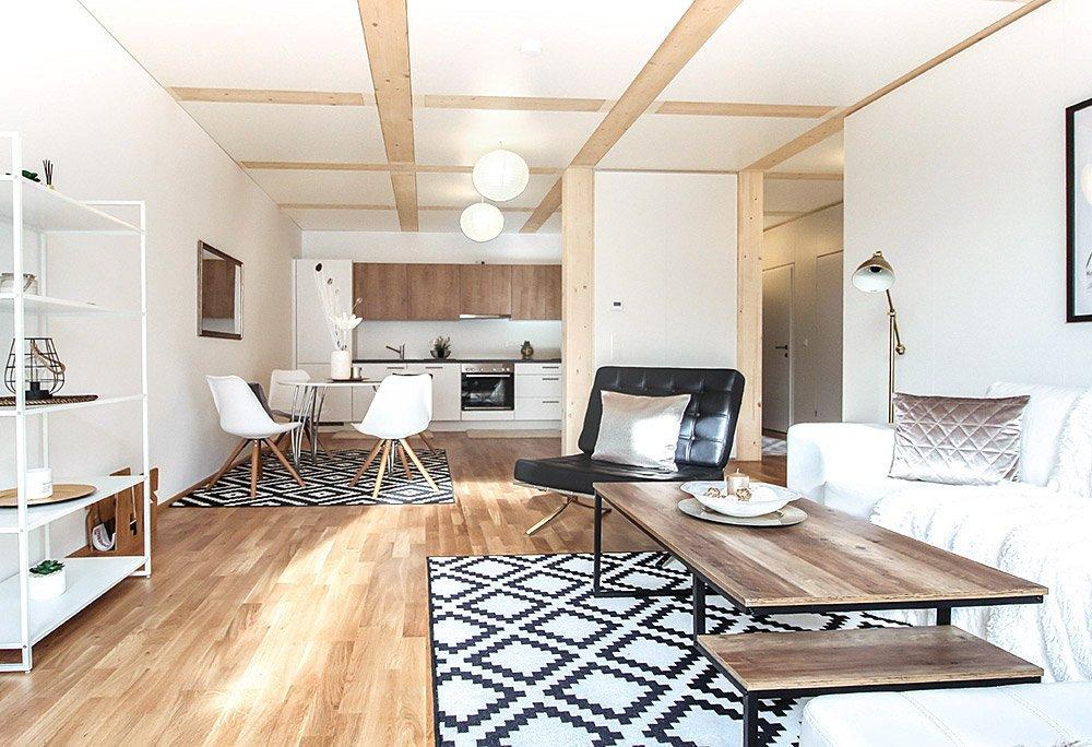 Landzinshaus Interieur - Wohnküche
