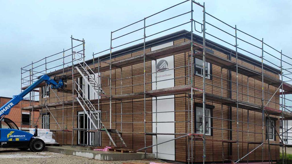 Baufortschritt Wieselburg - das Dach ist dicht