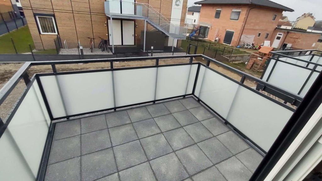 Baufortschritt - Balkonaussicht