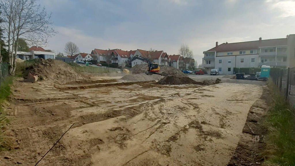 Baustart in Melk, Herrieder Straße